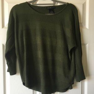 3/4 Sleeve Sweater Olive stripes
